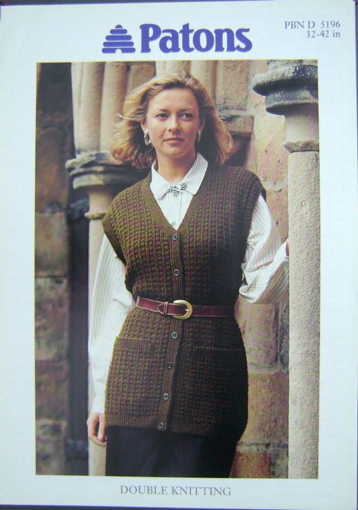 Patons Knitting Pattern 5196